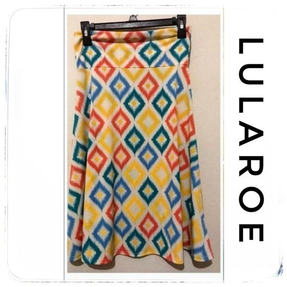 Lularoe Azure Diamond Skirt